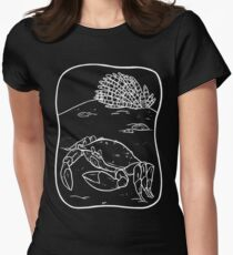 White Crab Womens Fitted T-Shirt