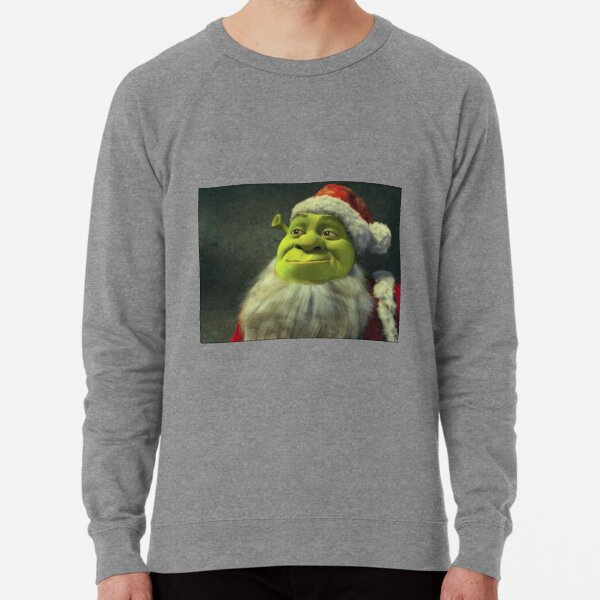 Santa Shrek Lightweight Sweatshirt