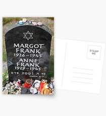 Grave of Anne Frank and her sister Margot Postcards