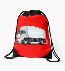 Cartoon delivery or cargo truck Drawstring Bag