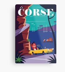 la Corse travel poster Metal Print