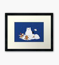 Snowcat Framed Print