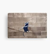 Banksy - Tightrope Rat Metal Print