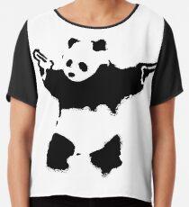 Banksy - Panda With Guns Chiffon Top