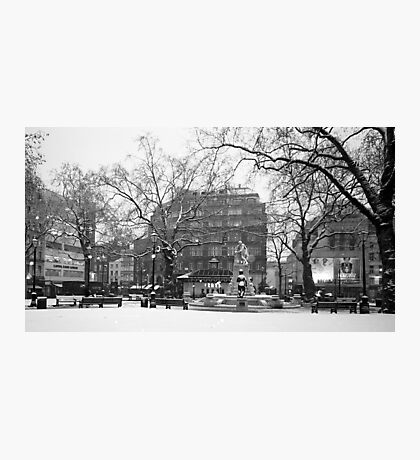 Leicester Square Snow Photographic Print
