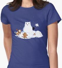 Snowcat Women's Fitted T-Shirt
