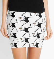 Banksy - Rage, Flower Thrower Mini Skirt