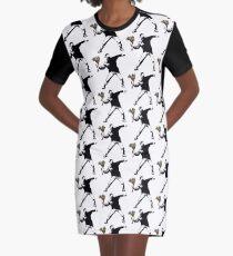 Banksy - Rage, Flower Thrower Graphic T-Shirt Dress