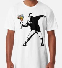 Banksy - Rage, Flower Thrower Long T-Shirt