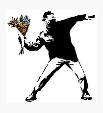 Banksy - Rage, Flower Thrower Photographic Print