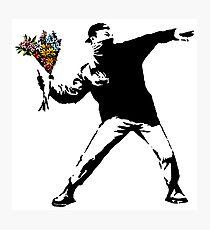 Banksy - Rage, Blumenwerfer Fotodruck