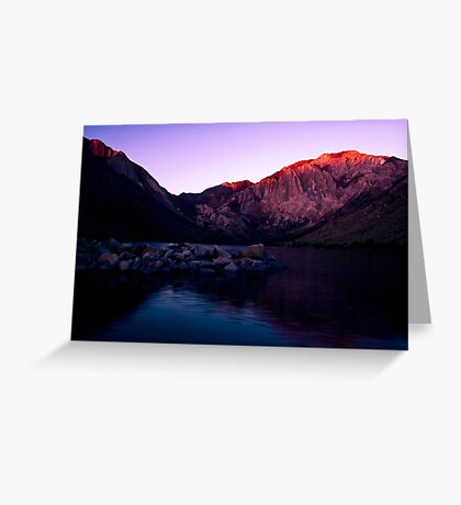 First Light, Convict Lake Greeting Card