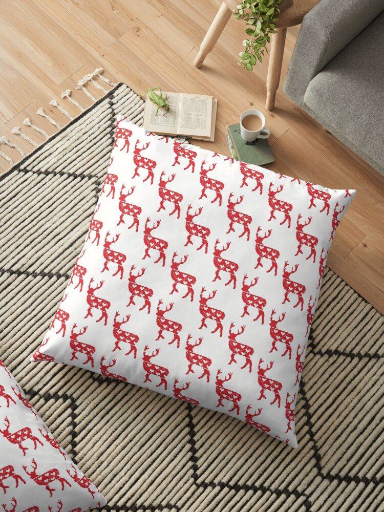 ?Nordic stag? Floor Pillow by CraftCartwright