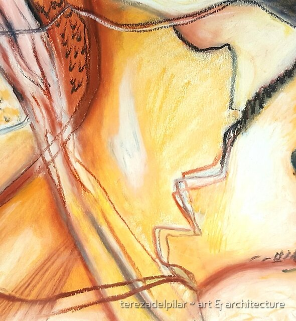 Dry Land. Abstract. oil pastel on paper. by terezadelpilar ~ art & architecture