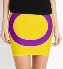 Intersex Flag Mini Skirt