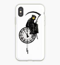 Vinilo o funda para iPhone banksy - grin reaper