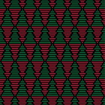 Triangle Geometrical Ornament. Christmas trees by alijun