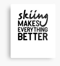 Skiing Winter Sports Snow Shirt Gift Metal Print