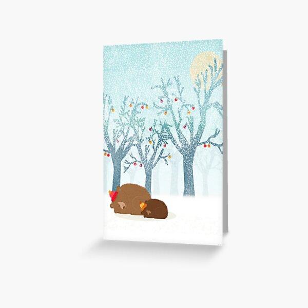 Sleeping winter Greeting Card