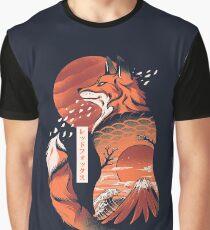 Japanischer Fuchs Grafik T-Shirt
