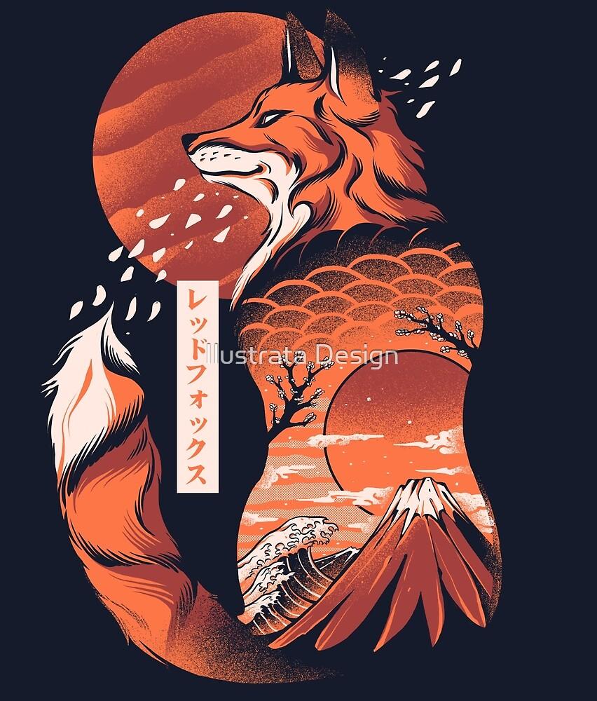 Japanese fox by Ilustrata Design