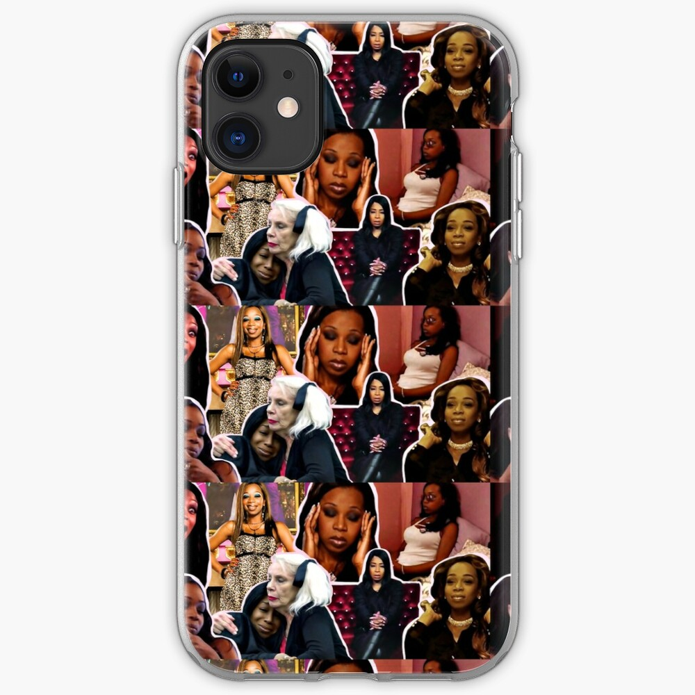 Tiffany Pollard, collage, montage, Flavorette, Celebrity memes, Reality tv, Puns, Banter, Jokes, Funny moments, Gift ideas, Good vibes iPhone Case & Cover