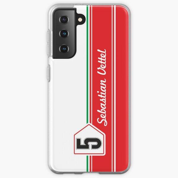 Sebastian Vettel 5 Retro | F1 Samsung Galaxy Soft Case