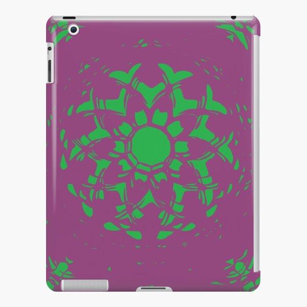 Vanishing Point Floral Abstract Mandala iPad Snap Case