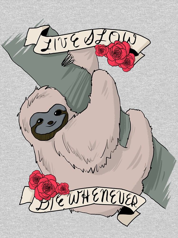 [live slow; die whenever]   V-Neck