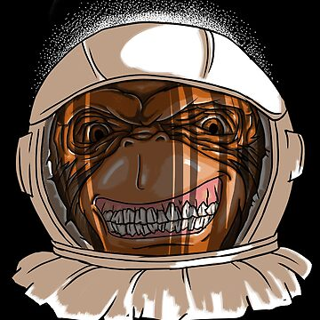 Scary Astronaut Monkey Gift by Reutmor