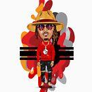 ICONIC SERIES: Young Hendrix Hip Hop Trap Splash and Brag Flex by PurpleLoxe