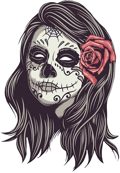 Quot Calavera Day Of The Dead Girl Quot Poster By Reinrab Redbubble
