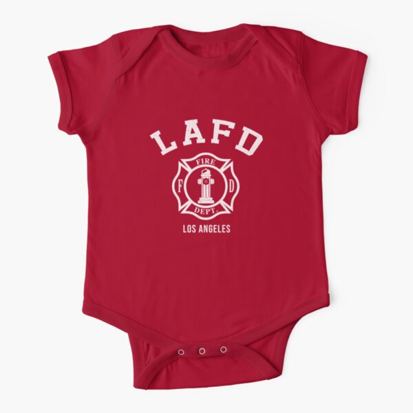 LAFD Firefighters Short Sleeve Baby One-Piece