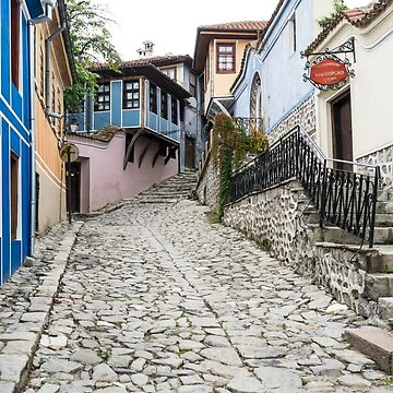 Hugging the Narrow Streets - Old Town Plovdiv Splendid Revival Houses by GeorgiaM