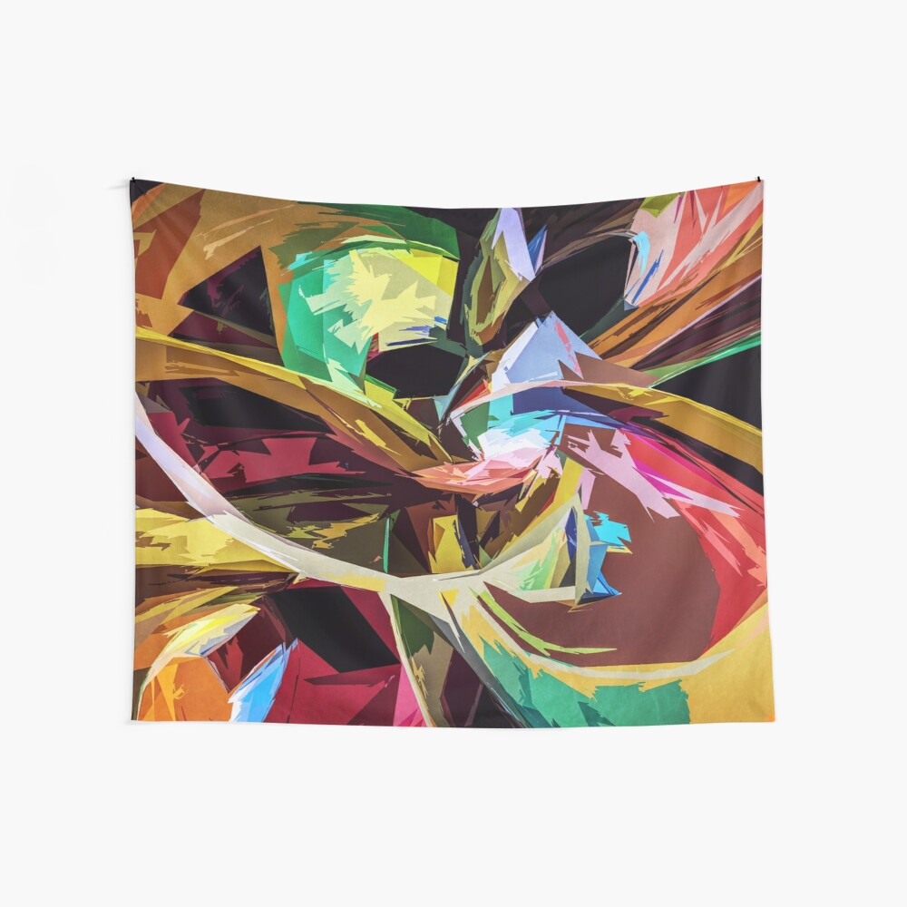 Abstract Colors Wall Tapestry