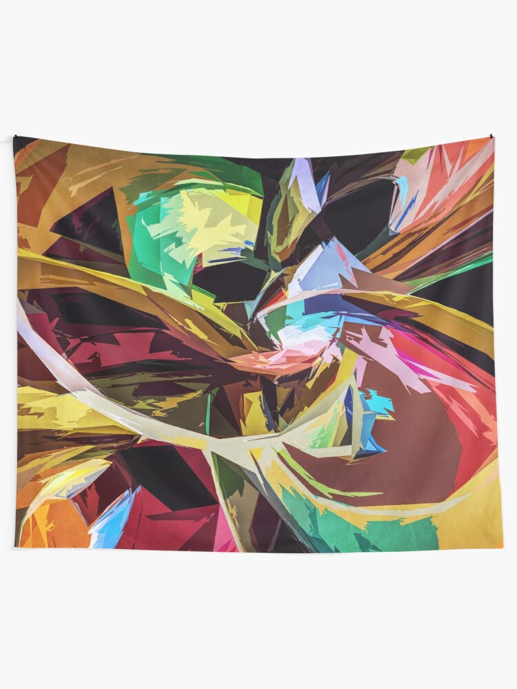 Alternate view of Abstract Colors Tapestry