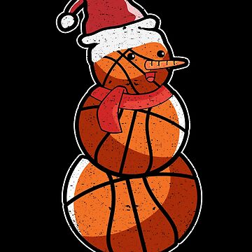 Christmas Basketball Snowman Snow Sport Holiday by kieranight