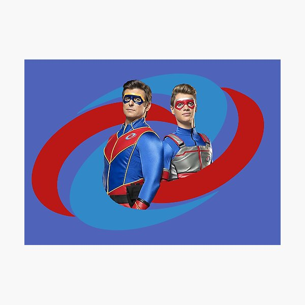 Capitán Man and Kid Danger - Logo Lámina fotográfica