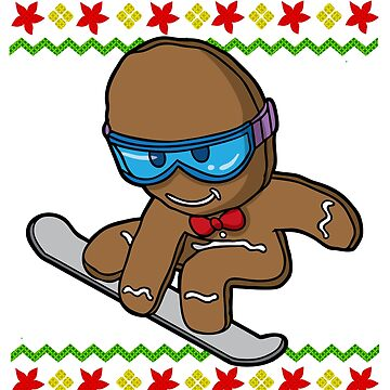 Snowboard Gingerbread Man Ugly Christmas by frittata