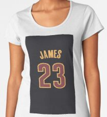 huge discount d2cd2 ad609 Lebron James Jersey Women's T-Shirts & Tops | Redbubble