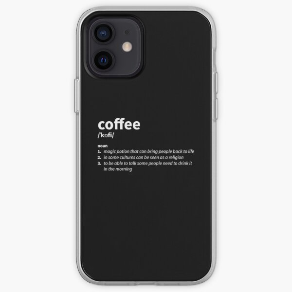 Coffee Definition iPhone Soft Case