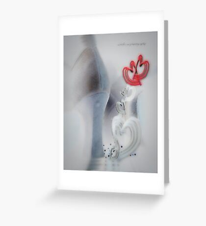 String of Hearts Chain © Valentines & Lovers Greeting Card