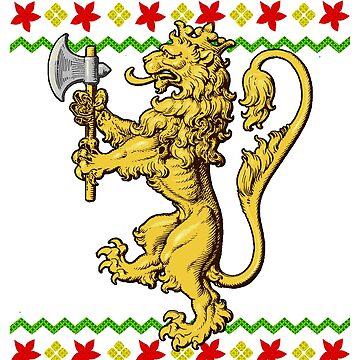 Norway Lion Snowflake Ugly Christmas by frittata
