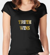 Truth wins - gold Women's Fitted Scoop T-Shirt