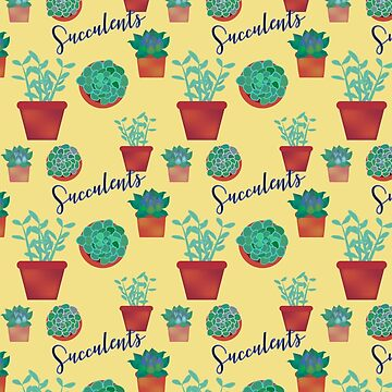 Succulent Pattern by RoxanneG