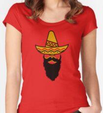 Cinco De Mayo funny beard Women's Fitted Scoop T-Shirt