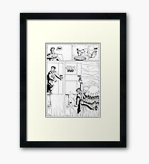 HSC Major Work Comic page 3 Framed Print
