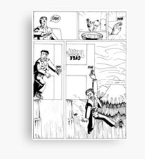 HSC Major Work Comic page 3 Canvas Print