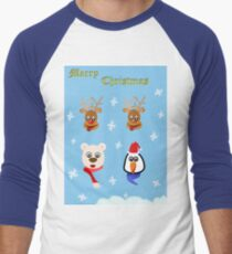 Merry Christmas!! Men's Baseball ¾ T-Shirt