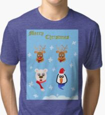 Merry Christmas!! Tri-blend T-Shirt